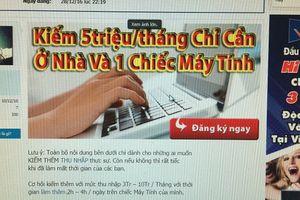 Cảnh giác 'bẫy' việc làm ảo trên mạng xã hội