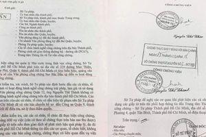 Bị bắt, người lập văn phòng công chứng giả ở TP HCM khai gì?