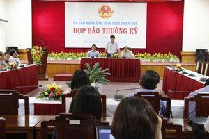 Thừa Thiên Huế ban hành quy định mới về tổ chức họp báo