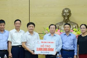 Tổng công ty phát điện 1 hỗ trợ 3 tỉ đồng giúp cho người dân