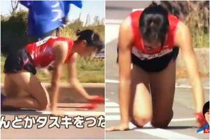 Nữ VĐV Nhật Bản bò 200m về đích khiến cộng đồng mạng xôn xao!Nữ VĐV Nhật Bản bò 200m về đích khiến cộng đồng mạng xôn xao!