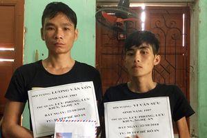 Nghệ An: Bắt 2 đối tượng tàng trữ ma túy ở biên giới