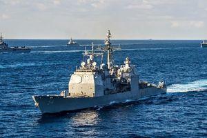 Mỹ cho tuần dương hạm vào eo biển Đài Loan, thách thức Trung Quốc