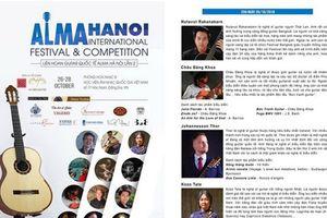 Festival guitar quốc tế Alma Hà Nội sẽ diễn ra vào cuối tháng 10