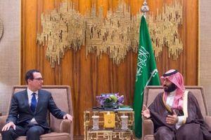Bộ trưởng Tài chính Mỹ hội đàm kín với Thái tử Saudi Arabia