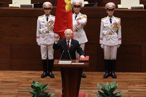 Tân Chủ tịch nước Nguyễn Phú Trọng tuyên thệ nhậm chức