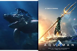 'Aquaman' tung hình ảnh mới: Cá mập đầu búa và khủng long đại dương làm thú cưỡi cho người đáy biển