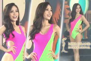 CLIP: Ơn giời, màn thả dáng 'điên đảo' với bikini của Phương Nga tại Bán kết Miss Grand International đây rồi!