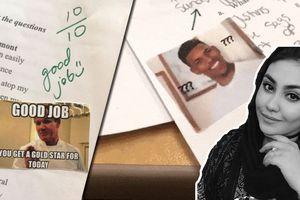 Cô giáo Mỹ phê bài kiểm tra bằng ảnh chế khiến dân mạng thích thú