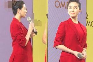 Lưu Thi Thi xuất hiện với vòng 2 to sau tin đồn mang thai
