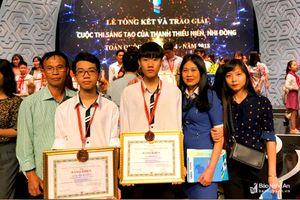 Nghệ An đạt giải Ba cuộc thi Sáng tạo thanh thiếu niên, nhi đồng toàn quốc