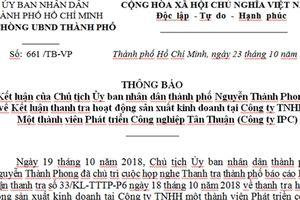 Chuyển công an điều tra sai phạm ở Công ty Tân Thuận