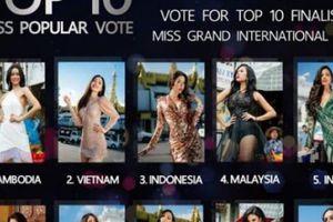 Sát giờ G, Phương Nga bất ngờ lọt top 2 bình chọn Miss Grand International