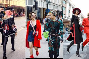 Thời trang độc đáo của bạn trẻ trên phố đi bộ Hà Nội