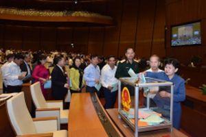 Công bố kết quả lấy phiếu tín nhiệm 48 chức danh do Quốc hội bầu hoặc phê chuẩn