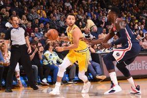 Stephen Curry liên tục 'nã pháo', Warriors nhấn chìm Wizards