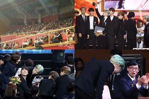 BTS gây ấn tượng khi cúi chào Son Ye Jin - Kim Nam Joo, nhưng ARMY bị chỉ trích vì thiếu lễ độ tại 'Korean Popular Culture & Arts Awards'