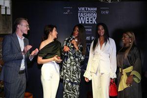 Á hậu Lệ Hằng rạng rỡ khoe sắc cùng Á hậu Hoàn vũ Thế giới 2016 tại tiệc chào mừng VIFW FW 2018