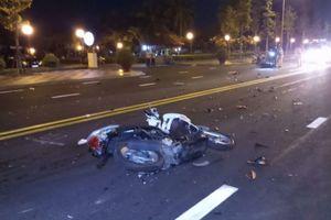 2 xe máy đâm nhau, 1 người chết, 2 người bị thương