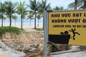 Đà Nẵng khẩn trương khắc phục sạt lở bãi biển