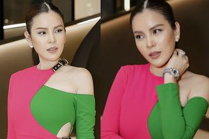 Hoa hậu Phương Lê diện váy xẻ cao, đeo đồng hồ 1,7 tỷ đồng dự tiệc