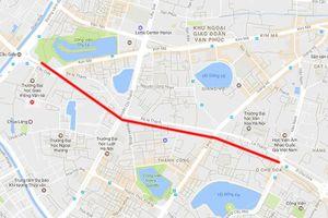 Hà Nội phê duyệt dự án mở đường Hoàng Cầu – Voi Phục hơn 7.210 tỷ đồng