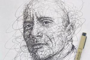 9X Đồng Nai có biệt tài vẽ tranh bằng các nét rối đẹp đến khó tin