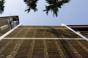 'Choáng' với căn nhà ở Tây Hồ, Hà Nội có cửa sổ tre cao 8m