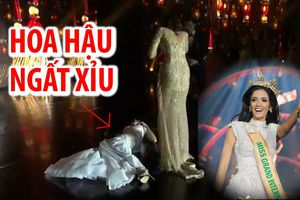 Khoảnh khắc hi hữu: Tân Hoa hậu Hòa bình Thế giới ngất xỉu ngay khi được xướng tên