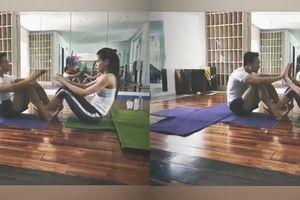 Hồ Ngọc Hà khoe clip tập yoga cùng Kim Lý, xóa tan tin đồn 'đường ai nấy đi'