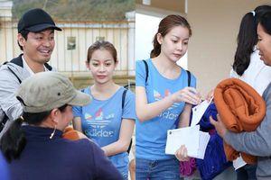 MC Phan Anh - Hoa hậu Hải Dương giản dị đến tặng nhà cho bà con vùng lũ