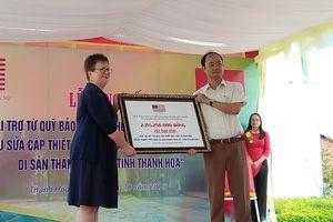 Phái đoàn ngoại giao Hoa Kỳ tài trợ dự án bảo tồn Thành Nhà Hồ