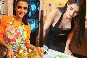 Tân Hoa hậu Hòa bình Quốc tế nấu ăn ngon hết phần người khác