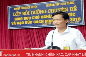 Trên 4.300 giáo viên, học sinh Hương Sơn được giáo dục tinh thần yêu nước, đạo đức cách mạng