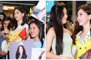Á hậu Phương Nga vừa trở về nước, đã được Hoa hậu Tiểu Vy và người hâm mộ tạo bất ngờ lớn