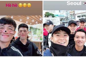 Được HLV Park Hang-seo 'xả trại', các cầu thủ đội Việt Nam 'đại náo' đường phố Hàn Quốc