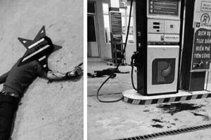 Hòa Bình: Nam thanh niên đập vỡ cốc thủy tinh tự cắt gân tay chân tự tử ngay trước cây xăng
