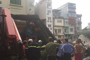 Thông tin chính thức vụ sập tường bên khách sạn đang xây ở Hoàn Kiếm