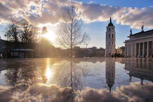 Vilnius vẻ đẹp của thành phố sau cơn mưa