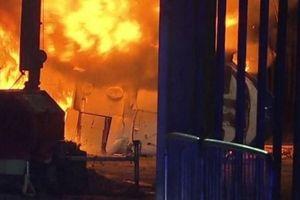 Trực thăng của ông Leicester City bốc cháy dữ dội