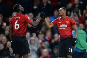 Paul Pogba và Anthony Martial ghi bàn, MU thắng sát nút Everton