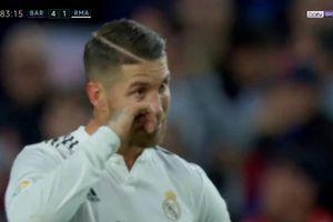 Nghi vấn Ramos rơi nước mắt ở trận siêu kinh điển