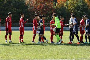 Đội tuyển Việt Nam kết thúc tập huấn bằng trận thua