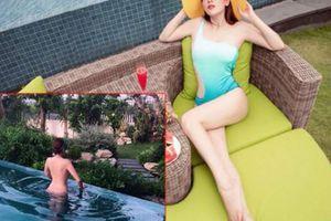 Sự thật sau bức hình hoa hậu Phương Lê tắm tiên ở hồ bơi