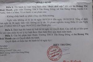Cần làm rõ một số khuất tất trong việc buộc thôi việc cô giáo ở Cà Mau
