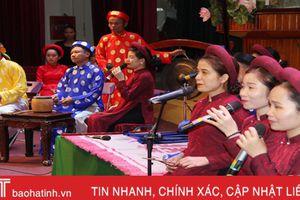 Tổng duyệt chuẩn bị Liên hoan Ca trù toàn quốc tại Hà Tĩnh