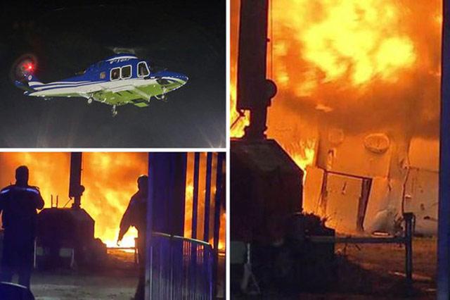 Clip: Khoảnh khắc trực thăng chở tỷ phú Thái Lan phát nổ