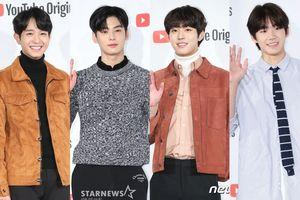 'Hội F4' Cha Eun Woo, Ahn Hyo Seop cùng Jung Yoo Ahn và Bang Jae Min 'đẹp hơn hoa' tại họp báo 'Top Management'