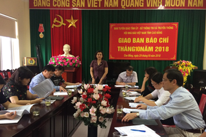 Cao Bằng: Giao ban báo chí thường kỳ tháng 10/2018