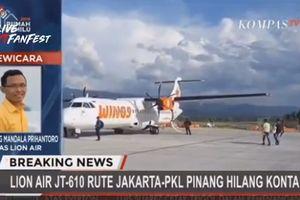 Clip: Máy bay chở gần 200 người rơi xuống biển ở Indonesia